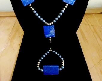 Lapis Lazuli, Hematite with Saa-Orgone Energy Crowns - Set