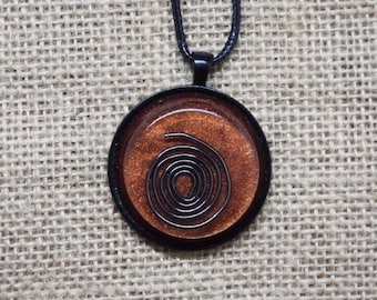 Wrapped Copper Spiral -  Saa-Orgone Energy Device Pendant