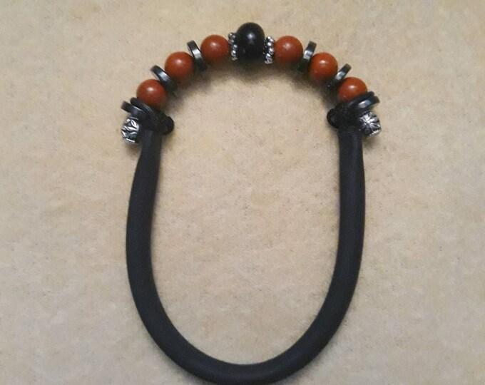 Saa Orgone G-Ring - Red Jasper &  Hematite