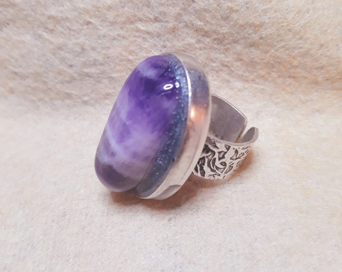 Saa Orgone Ring with Amethyst (adjustable)