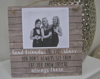 Personalised Photo Plaque Sign Best Friend Special Gift Like Stars Thank You Birthday 21st 30th 40th Wall
