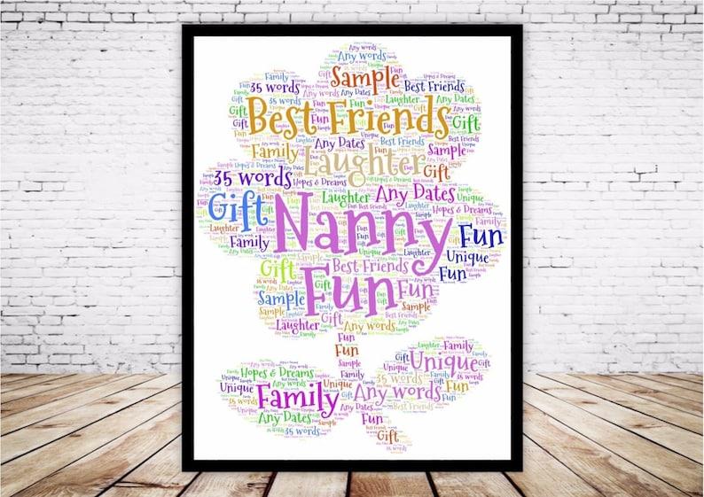 word art personalised gift present keepsake penguin birthday mum nan sister