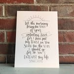 Psalm 143:8 Print, Let the morning bring me word