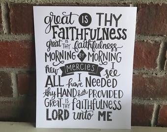 Great Is Thy Faithfulness Print