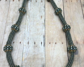Beaded Herringbone Bubbles Necklace