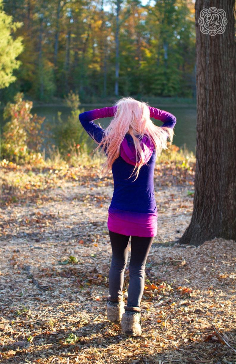 Purple Hoodie Purple Hoodie Dress Pink Hoodie Pink Hoodie image 0