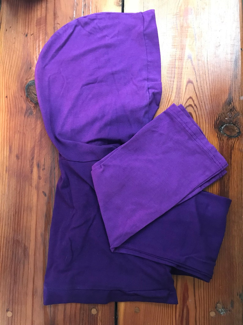 CLEARANCE: Purple Shrug Cropped Hoodie Flared Sleeves image 0