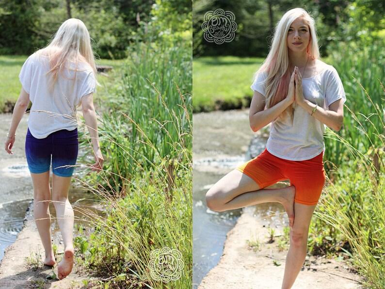 CUSTOM COLOR Ombre Dyed Athletic Shorts Yoga Shorts image 0