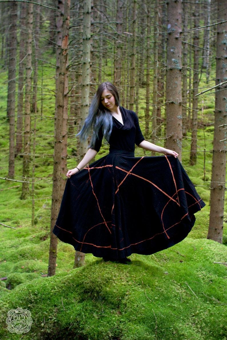 Circle of Salt Skirt: Medieval Skirt  Goth  Witch Skirt  image 0