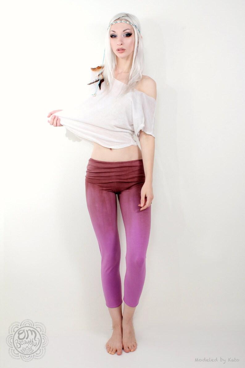 Women's Yoga Pants Purple Yoga Pants Lavender Pants image 0