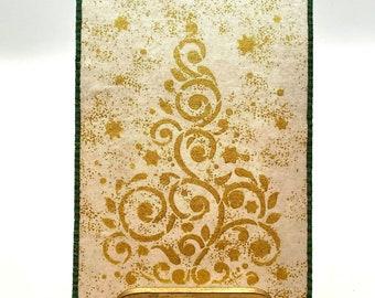 Golden Tree Fabric Postcard