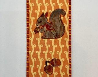 Squirrel Fabric Bookmark