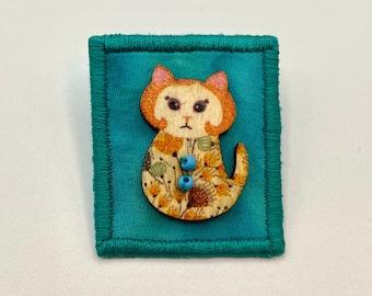 Cute Kitty Button Pin