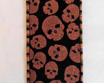 Skulls Fabric Bookmark