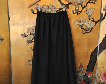 1930s Black Long Slip Skirt - Extra Small/ Small
