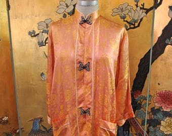 1940s Pink Asian Robe - Small