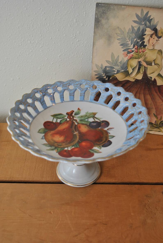 Vintage Pedestal Fruit Dish