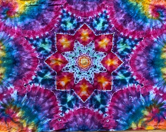 Gorgeous tie dye mandala sarong/ tapestry