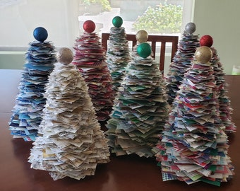 paper-crafted Christmas tree. St. Jude Children's Hospital fundraiser