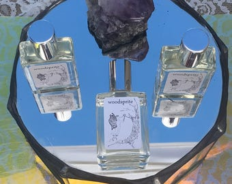 Woodsprite ~ Handmade womens perfume Inspired by Electric Forest with spicy Cedar Wood and sweet Plum Blossom and White Tea