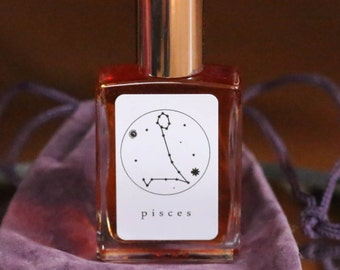 PISCES Handmade Zodiac Inspired Oil-Aromatherapy balancing blends~Atlas Cedarwood, Vanilla, Patchouli, Pikaki flower, Brown Sugar