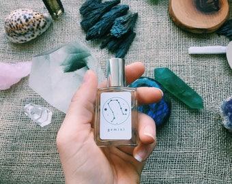 GEMINI Handmade Zodiac perfume -Fresh and floral mixture of Jasmine, Ginger, Lemon, Oakmoss, Cedar