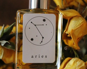 ARIES Handmade Zodiac Inspired Oil Blend-Aromatherapy balancing mixture of Tobacco, Vanilla, and fine fragrance of Cinnamon & Musk