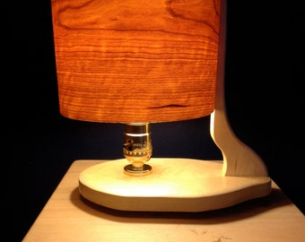 Wooden Lamp in Maple and Cherry