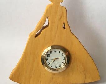 Princess Mini Clock in Solid Pine