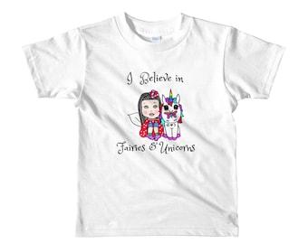 I Do Believe In Fairies Pink Kids T-Shirt