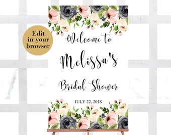 Bridal shower sign | Etsy