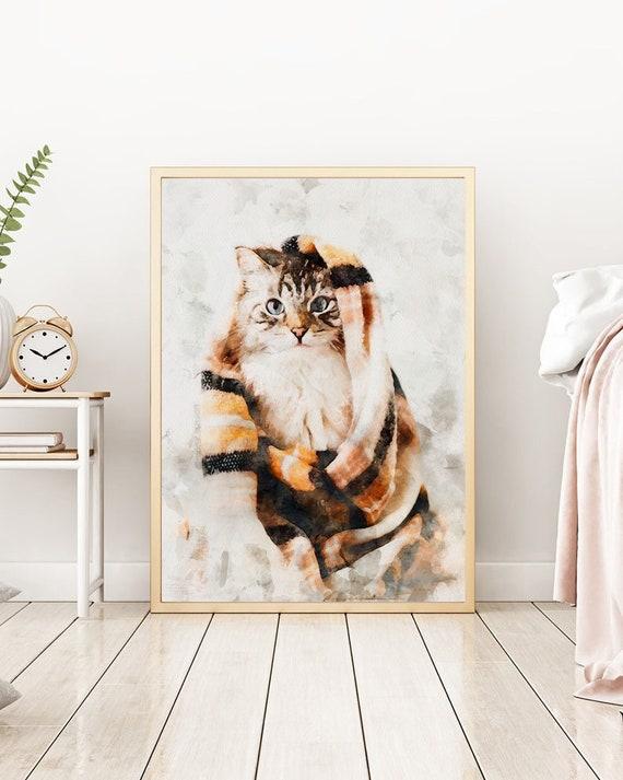 Digital Dog Memorial Portrait Custom Pet Memorial Portrait Custom Cat Memorial Portrait Watercolor
