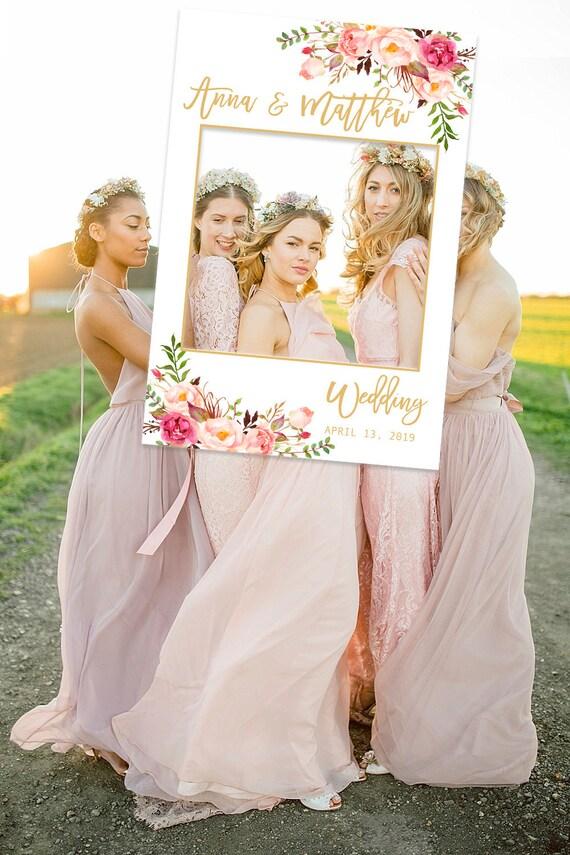 Personalized Wedding Photo Booth Frame Blush Wedding Photo Etsy