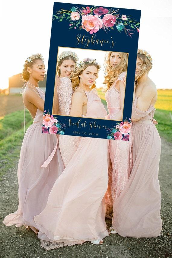 Marsala and Navy wedding photo booth frame Wedding Photo booth Wedding Decorations Wedding photo props Wedding Frame Wedding Photo Prop