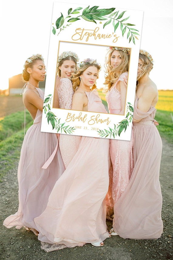Bridal Shower Photo Prop Greenery Bridal Shower Photo Booth Etsy