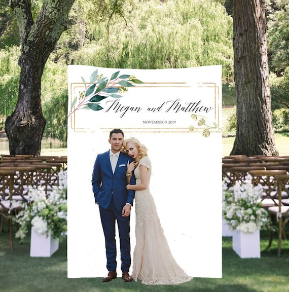 Botanical Wedding Decorations Greenery Wedding Backdrop Wedding Arch Decor Personalized Wedding Backdrop Rustic Wedding Banner Modern By Charmingblush Catch My Party