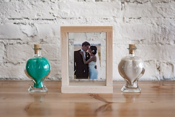 Romantic Unity Sand Ceremony Frame Set Wedding Photo Frame Etsy