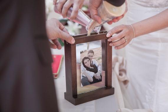 Wedding Unity Sand Ceremony Frame Chocolate Brown Etsy