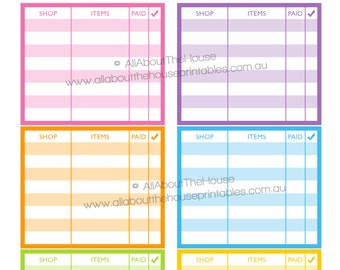 Online shopping planner stickers notes page Printable shopping happy mail order Erin Condren ECLP Rainbow youtube tracker happy plum NPTS11