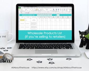 inventory spreadsheet etsy seller tool shop management etsy
