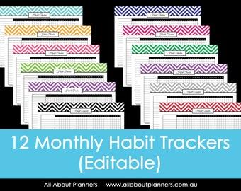 Habit tracker printable rainbow routine tasks log life | Etsy