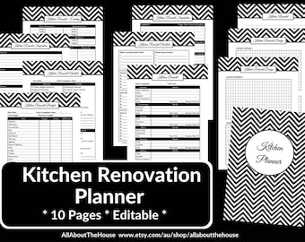 bathroom remodel checklist planner printable renovation home