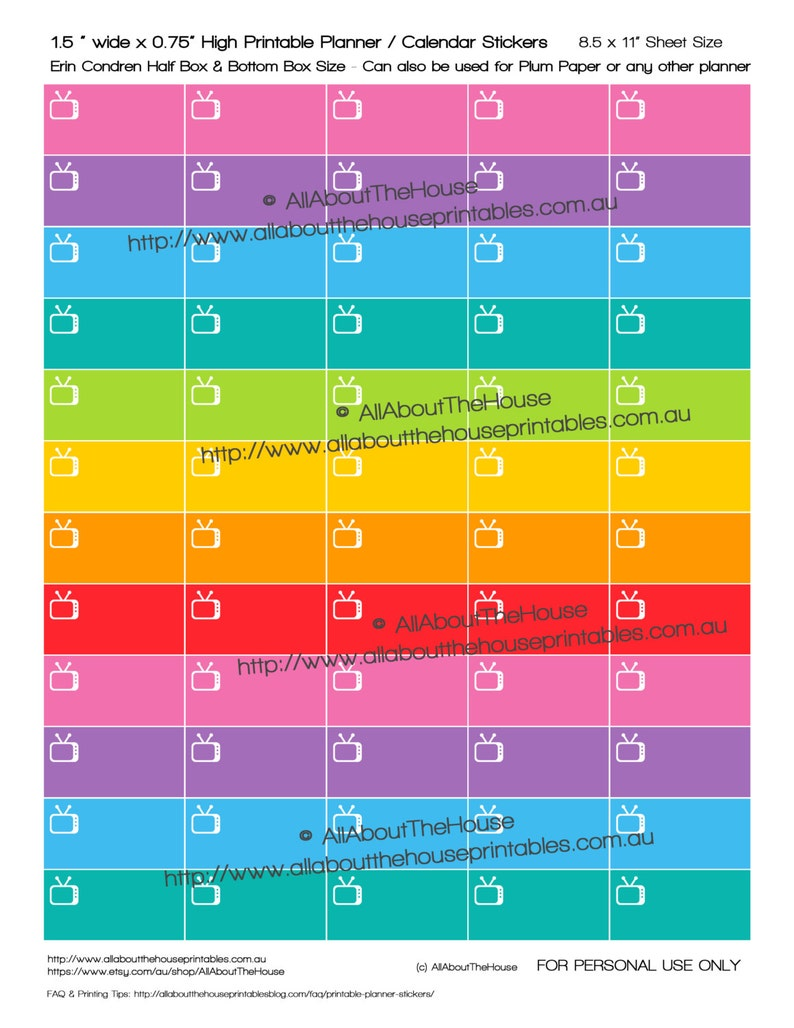 TV Planner Stickers reminder television show recording image 0