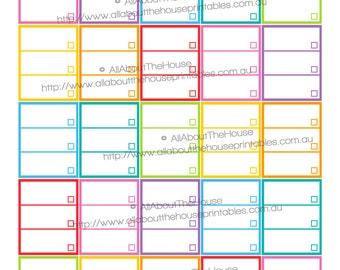 List Planner Stickers Printable Checklist To Do Tasks Reminder full box  made for Erin Condren Vertical Life Planner or happy planner FB060