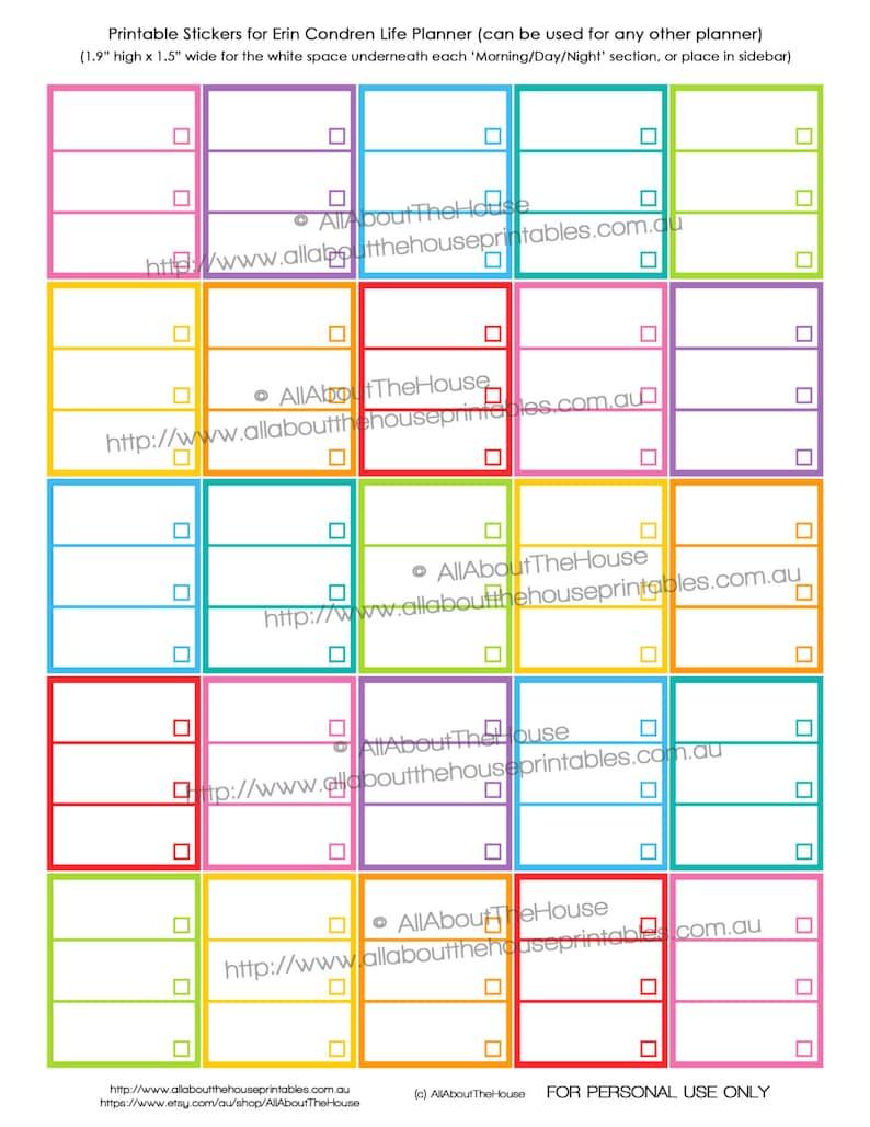 List Planner Stickers Printable Checklist To Do Tasks Reminder image 0