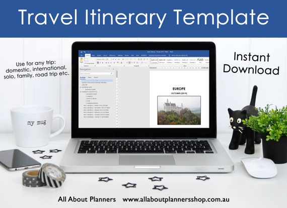 Microsoft Word Itinerary Template from i.etsystatic.com