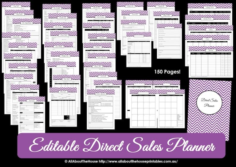 DARK BLUE Direct Sales Planner  Editable Business Planner image 0