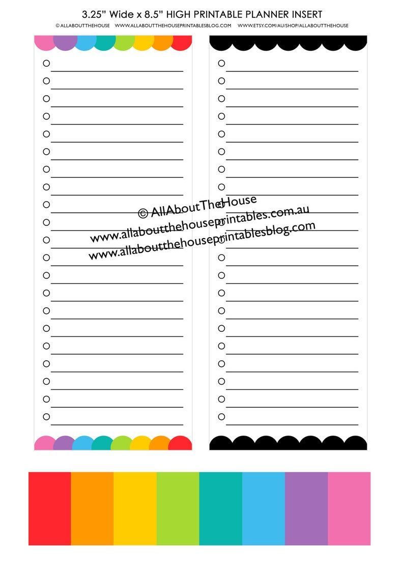 graphic relating to Emily Ley Printables titled printable Planner Increase grocery listing towards do list dashboard rainbow Erin Condren, Plum Paper, Inkwell Force, Emily Ley, Working day Designer and many others