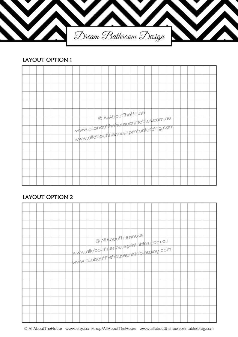 Bathroom remodel checklist planner printable renovation ...
