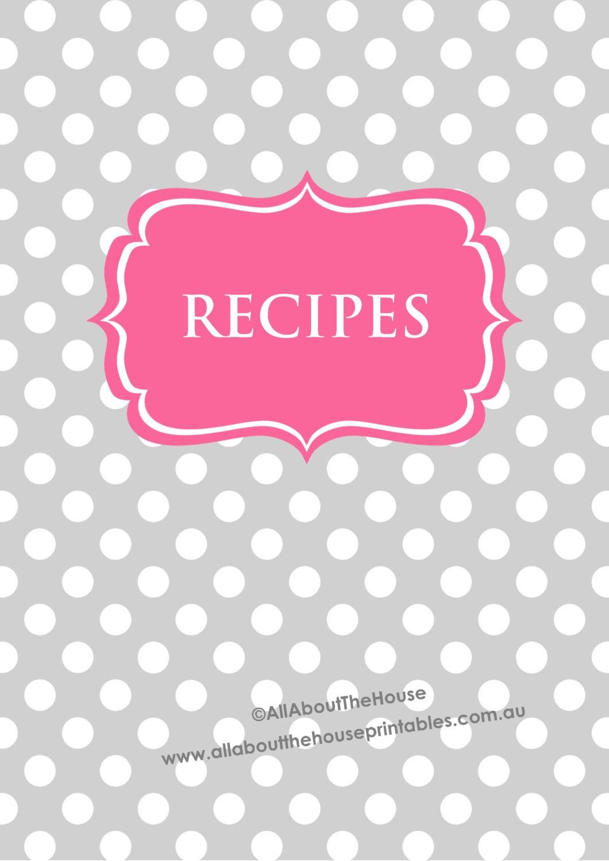 Revered image inside recipe binder cover printable